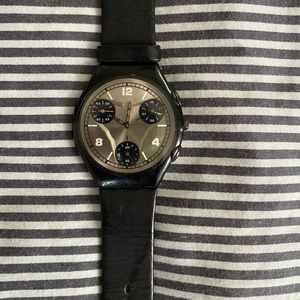 COPY - Swatch Skin Watch with Leather Band